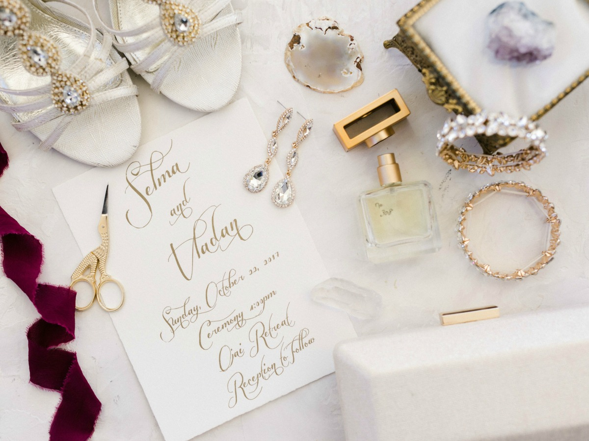 the perfect bridal flatlay melissa chataigne