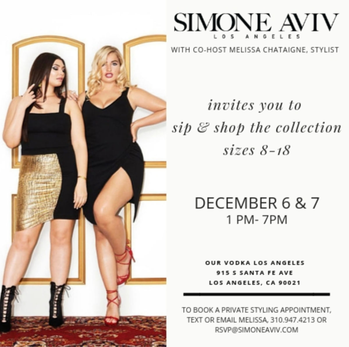 Simone Aviv Pop Up Shop