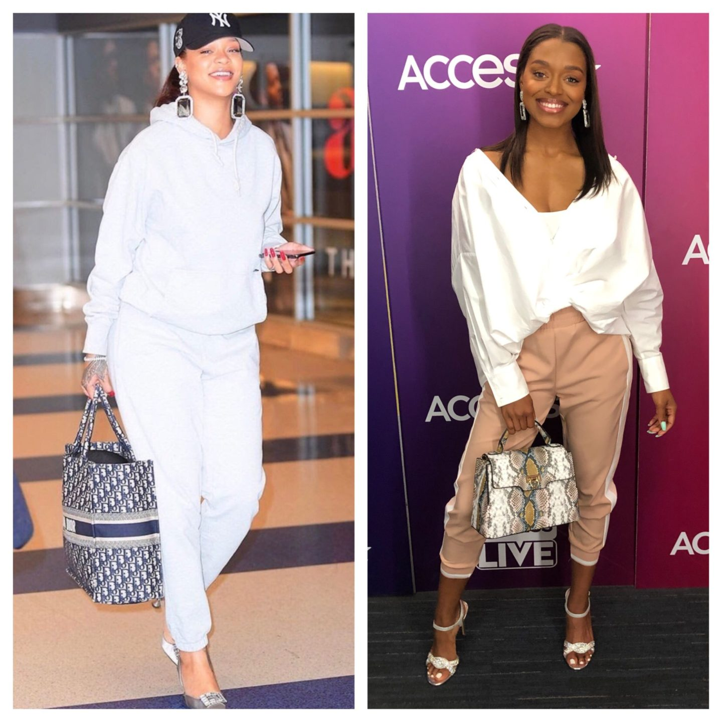 rihanna airport look for less with zara