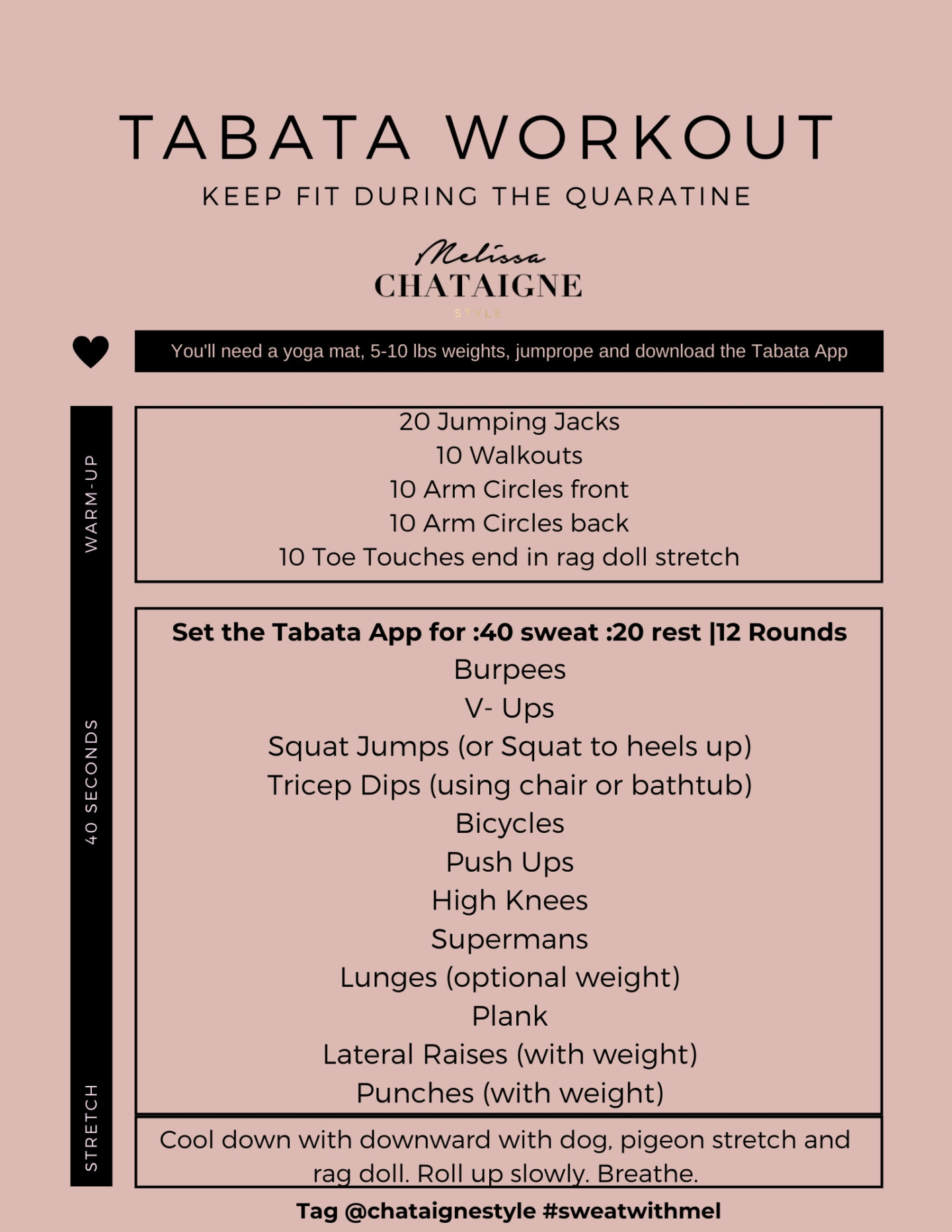 Chataigne's Tabata workout for at home